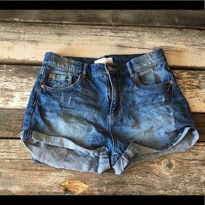 Garage Retro High Waist denim shorts